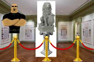 statue on a pedestal
